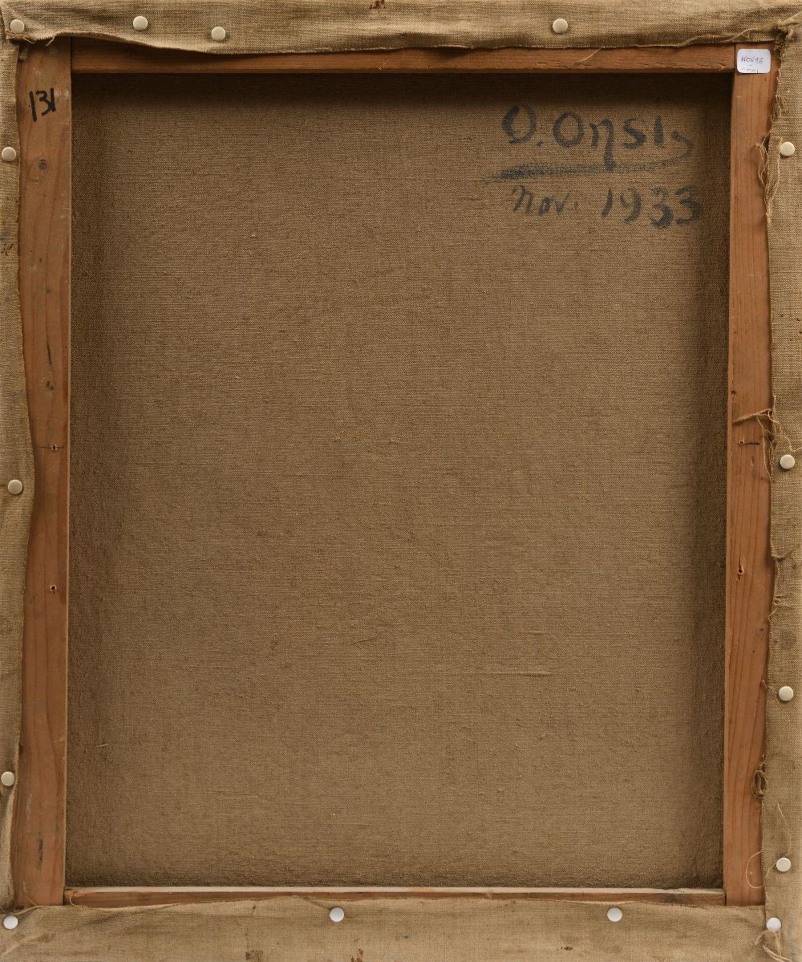 Omar ONSI (Tallet Al-Khayat 1901 - Beyrouth 1969)Portrait de femme, 1933Huile sur toile 54,5 x 65 cm - Image 2 of 2