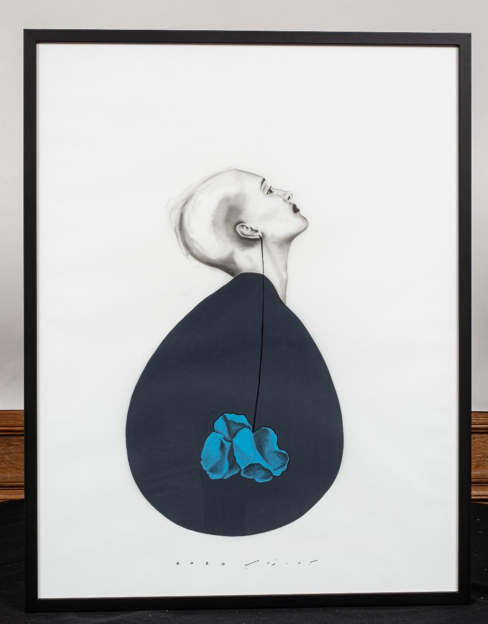 Bahareh NAVABI (Iran 1985)Le théâtre de la vie, 2020Crayon gras et acrylique sur calque polyester, - Image 3 of 3