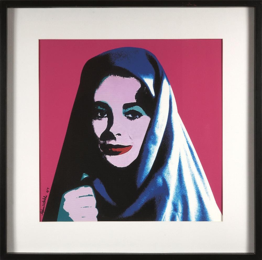 Afshan KETABCHI (Iran 1966)Liz undercover, 2008Sérigraphie en couleurs sur toile 73 x 71 cm - Image 2 of 2