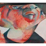 Saad YAGAN (Alep 1950)Sans titre, 1981Huile sur papier 21,5 x 24 cm à la vue Signé et daté en bas