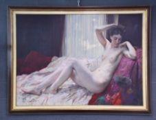 Herman RICHIR (1866-1942). Serenity, 1928. Oil on canvas Dimensions 112 x 152 cm. Provenance: Belgia