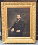 Josefa MURILLO Y BRAVO DE VELA (1810-1870). Portrait of a man of good society. Oil on canvas.