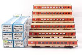Märklin sechs PersonenwagenMärklin sechs Personenwagen, 4034, sehr gut erhalten, ORK