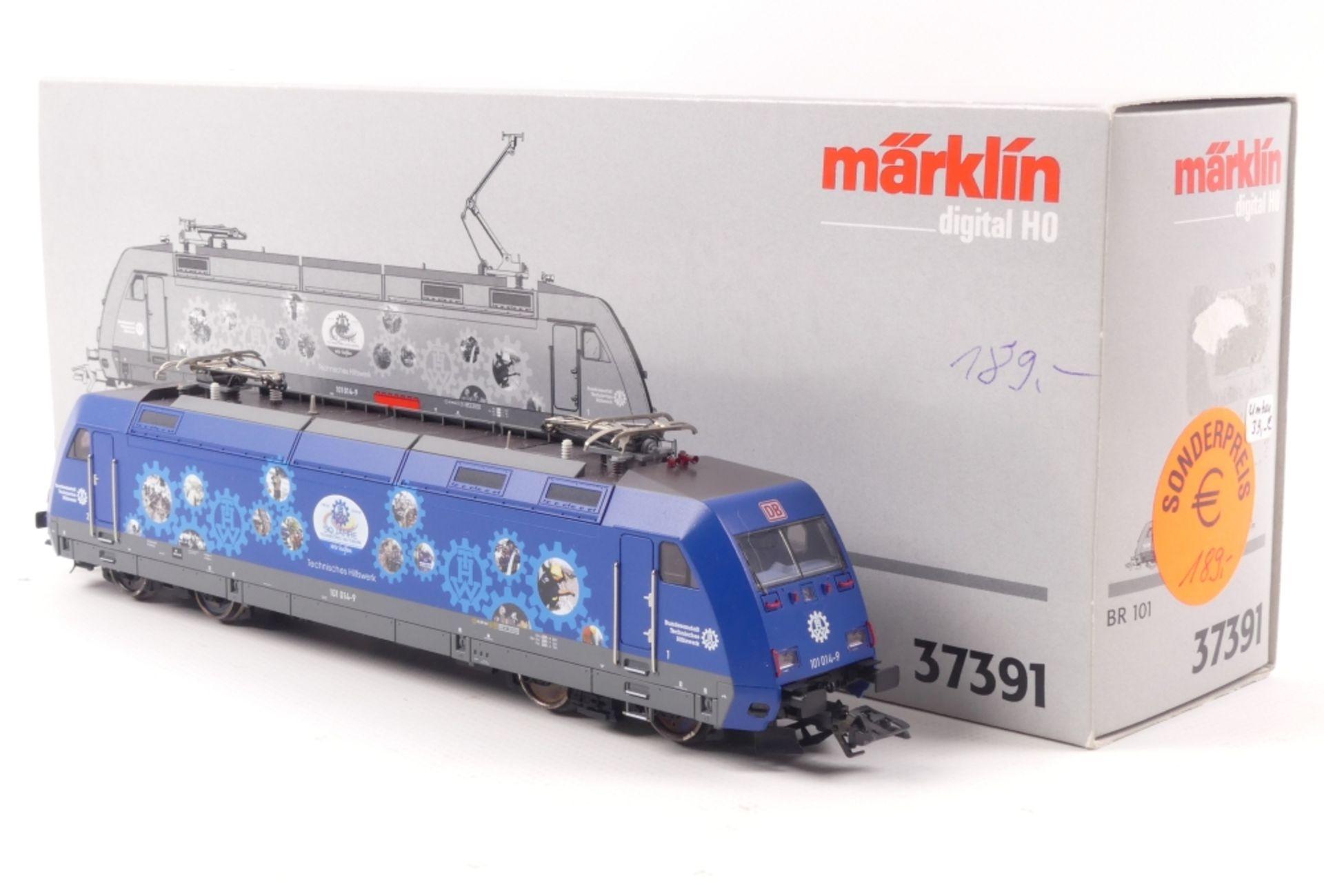 """Märklin 37391Märklin 37391, Elektrolok ´Technisches Hilfswerk` """"101 014-9"""" der DB,"""