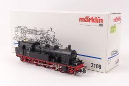 "Märklin 3106Märklin 3106, Tenderlok ""78 355"" der DB, analog, ohne erhabene Schilder"