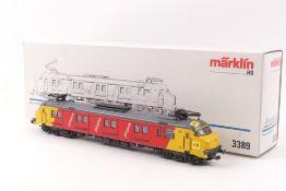 """Märklin 3389Märklin 3389, Posttriebwagen """"3020"""" der NS, ohne typografische Elemente,"""