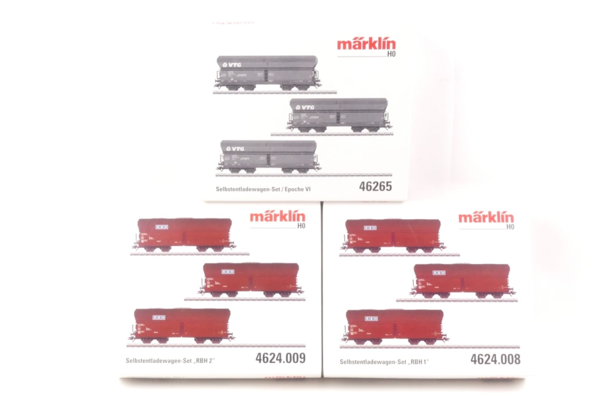 Märklin drei Selbstentladewagen-SetsMärklin drei Selbstentladewagen-Sets, 46265, 462