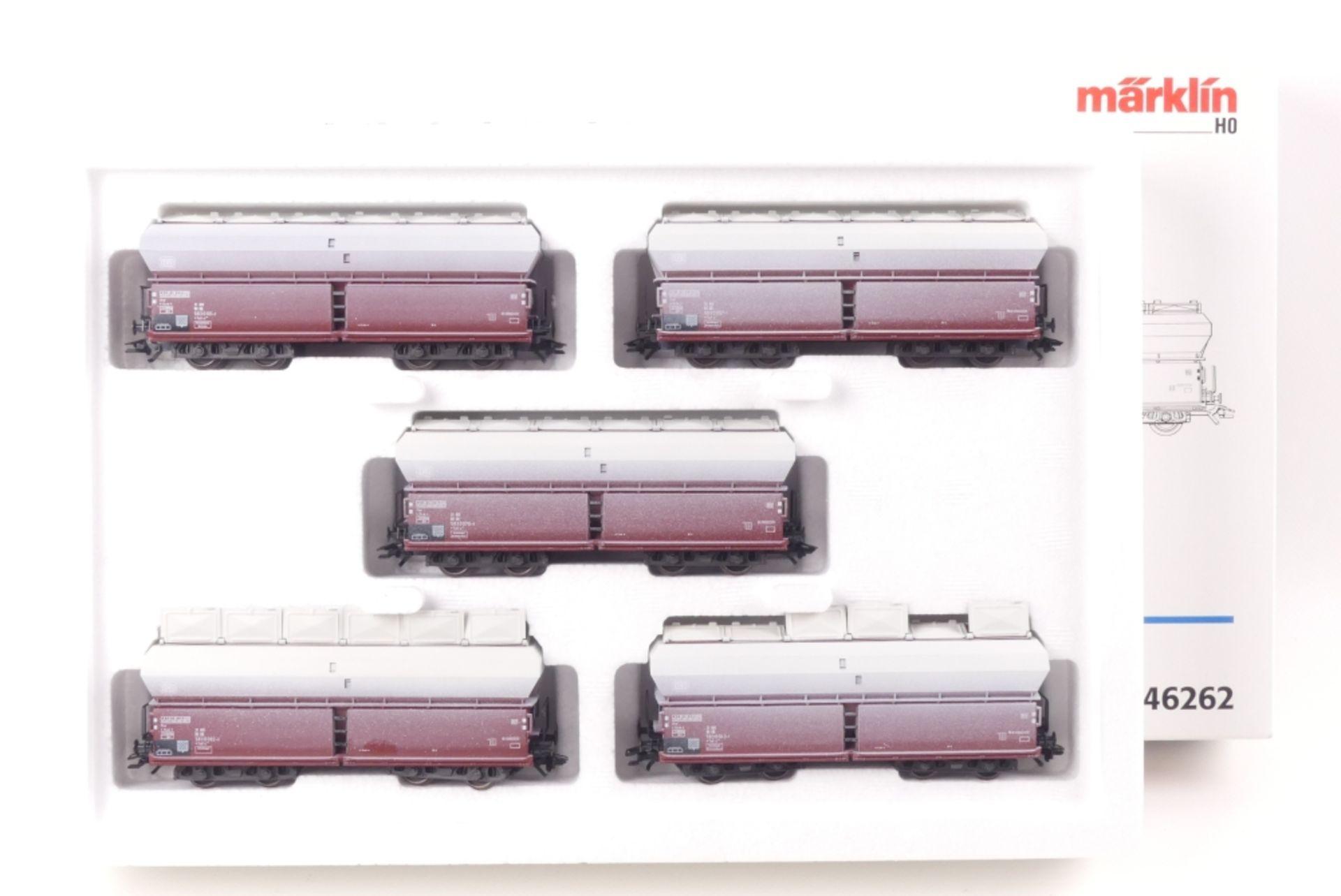 """Märklin Wagen-SetMärklin Wagen-Set, 46262, """"Kalktransport"""", auf Gleichstromachsen um"""