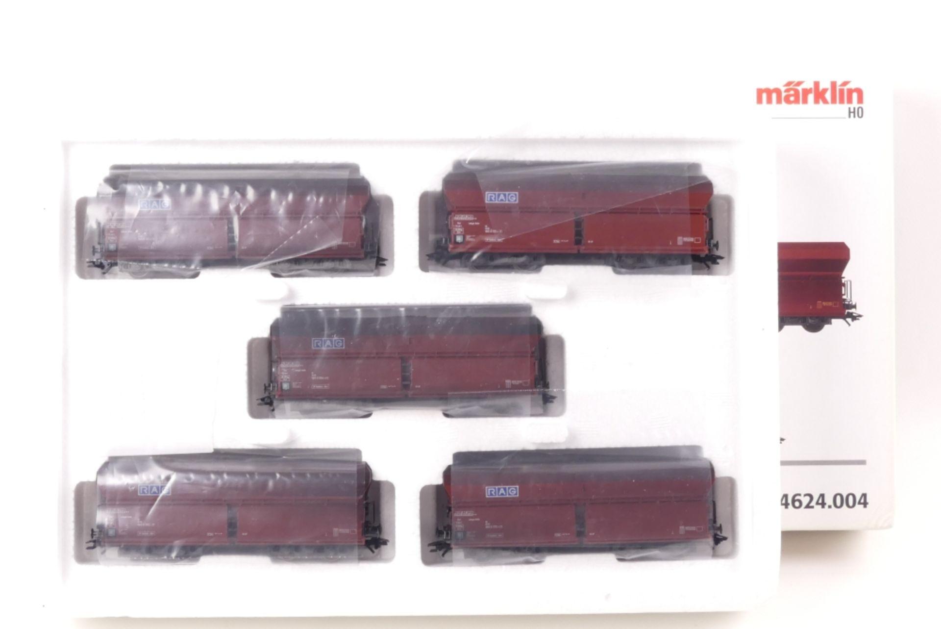 """Märklin Wagen-SetMärklin Wagen-Set, 4624.004, """"RAG"""", auf Gleichstromachsen umgerüst"""