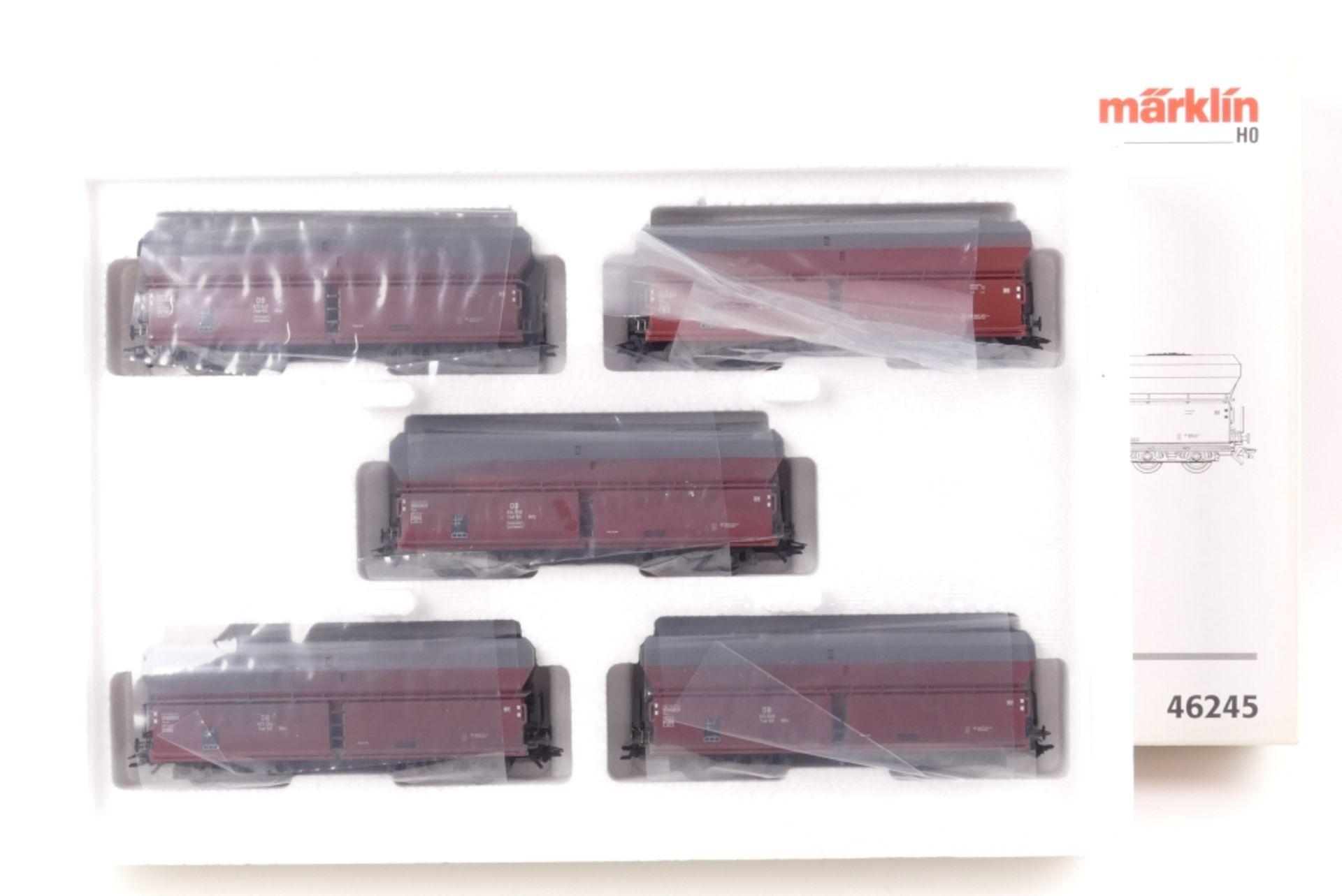 "Märklin Wagen-SetMärklin Wagen-Set, 46245, ""Kokstransport"", auf Gleichstromachsen um"