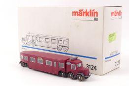 """Märklin 3124Märklin 3124, Schienenbus """"MICHELIN"""" Triebwagen, analog, Wechselstrom, s"""