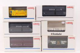 Märklin sechs GüterwagenMärklin sechs Güterwagen, 4623, 4891, vier Sonder- und Wer