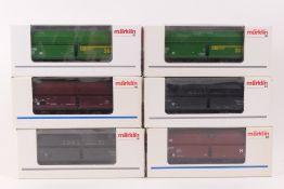 Märklin sechs GüterwagenMärklin sechs Güterwagen, 4624, 4624.005, 4705, 48602, 486