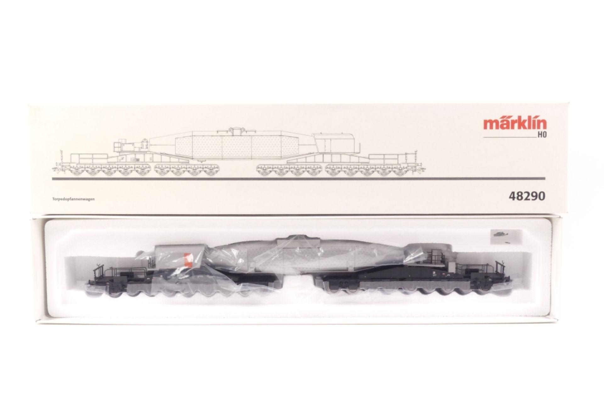 Märklin 48290Märklin 48290, Torpedopfannenwagen, mit Gleichstromachsen ausgerüstet,