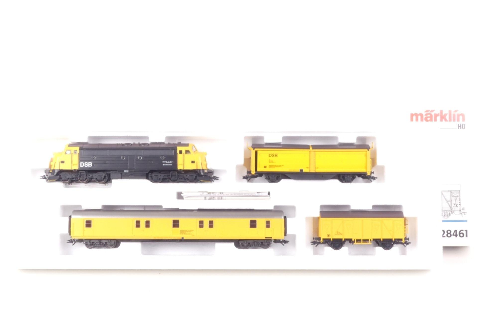 """Märklin 28461Märklin 28461, Bahndienst-Hilfszug der DSB, Diesellok """"21 108-4"""", analo"""