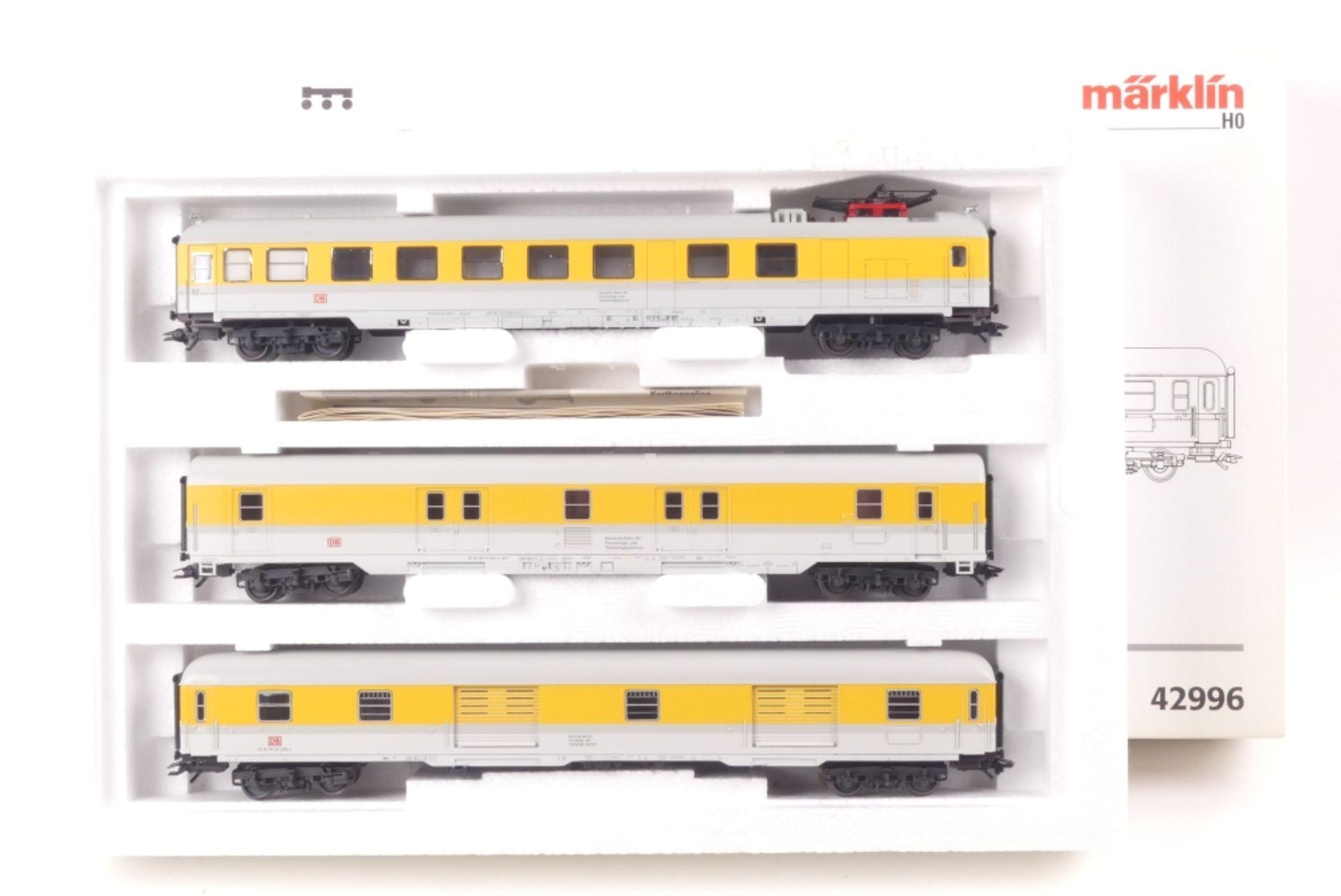 Märklin Wagen-SetMärklin Wagen-Set, 42996, Messwagen, auf Gleichstromachsen umgerüs