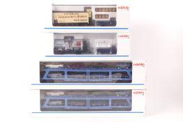 Märklin vier GüterwagenMärklin vier Güterwagen, zwei Museumswagen 1992/1994, zwei