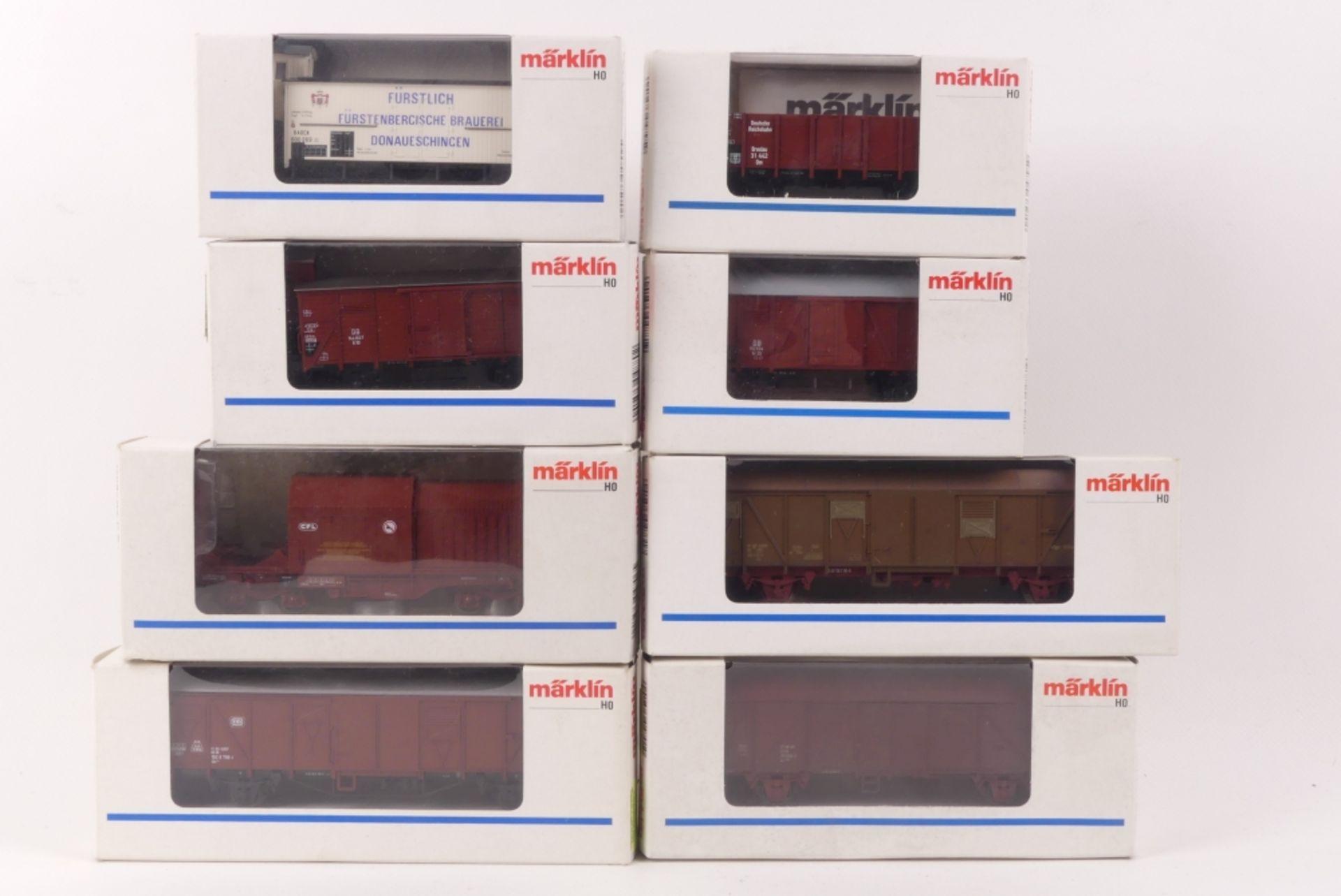 Märklin acht GüterwagenMärklin acht Güterwagen, 4701, 4706, 4731, 4732, 4795, 4880