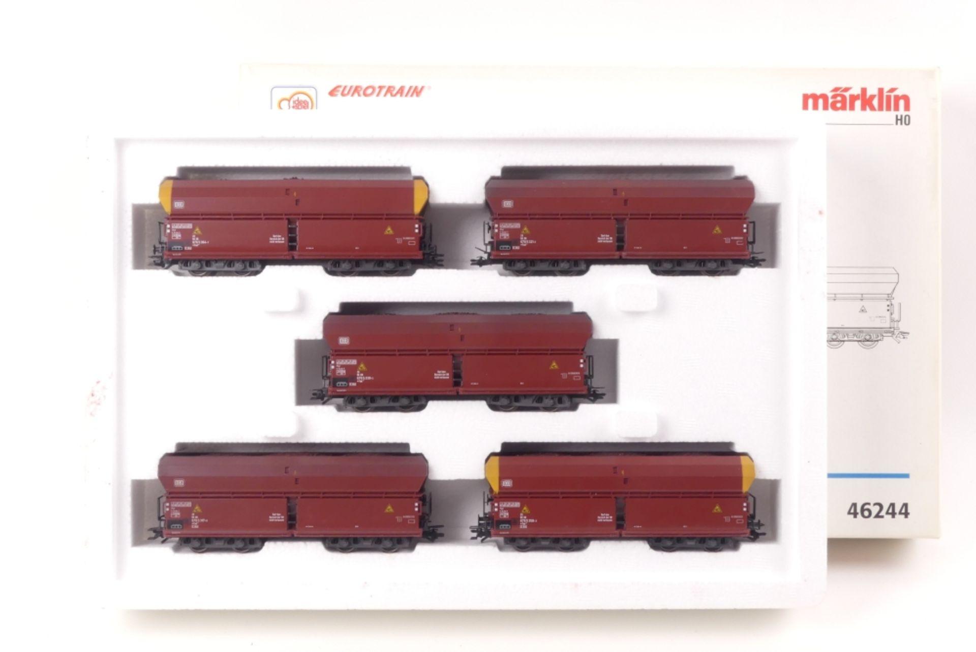 """Märklin Erzwagen-ZugMärklin Erzwagen-Zug, 64244, """""""", auf Gleichstromachsen umgerüst"""