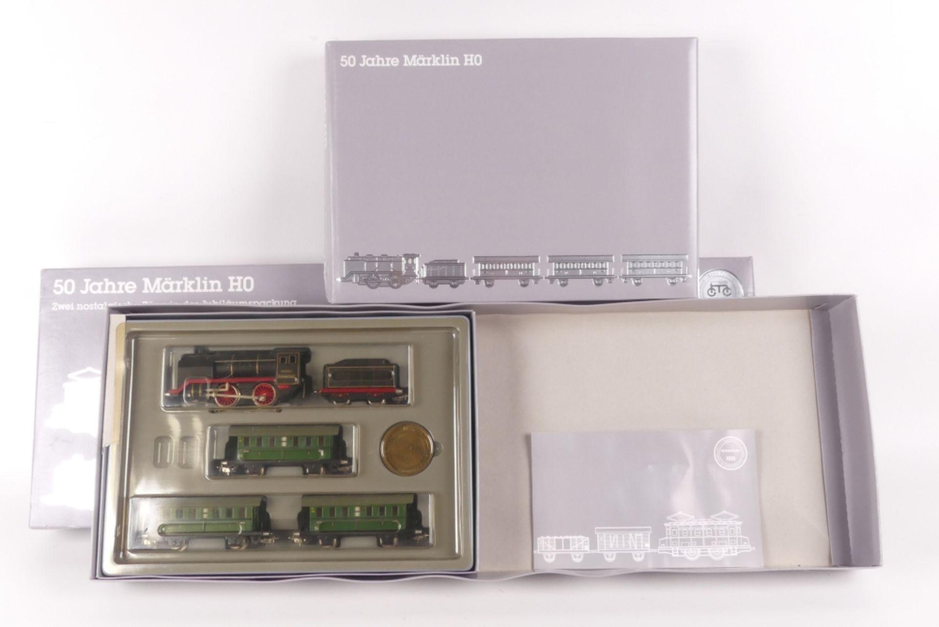 Märklin 0050Märklin 0050, Jubiläums-Doppelzug-Packung, eine Packung fehlt, Dampflok