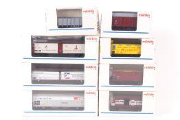Märklin acht GüterwagenMärklin acht Güterwagen, 4833, 4834, 4837, 4883, 4885, 4891