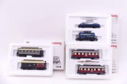 Märklin drei Wagen-Sets, 43048/Inlet beschriftet, 44243, 43352, sehr gut erhalten, ORK mit