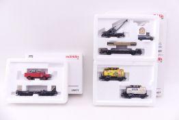 Märklin drei Wagen-Sets, 46427, 48671, 45091, sehr gut erhalten, ORK mit Lagerspuren/ beklebt