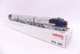 """Märklin 3362, dreiteilige US-Diesellok F7 """"SANTA FE"""", analog, sehr gut erhalten, Anleitung, ORK/"""