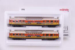 """Märklin 42995, Wagen-Set """"Apfelpfeil"""", sehr gut erhalten, Innenbeleuchtung, Zusatzinformation, ORK"""