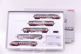 "Märklin 39540, fünfteiliger Elektro-Triebzug ""Gotthardo"" der SBB, mfx-Digital-*-Technik, Softdrive-"