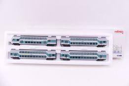 """Märklin 43580, Wagen-Set """"Doppelstockwagen"""", vier Wagen """"STUTTGART HBF"""", sehr gut erhalten, ORK/"""