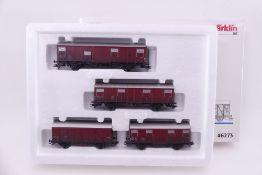 """Märklin 46273, Wagen-Set """"Gedeckte Güterwagen"""", vier unterschiedliche Wagen, sehr gut erhalten,"""