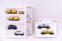 Märklin drei Wagen-Sets, 4861, 48542, 4876, sehr gut erhalten, ORK mit geringen und kräftigen