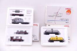 Märklin vier Wagen-Sets, 48674, 46076, 4861, gut bis sehr gut erhalten, ORK mit teils deutlichen