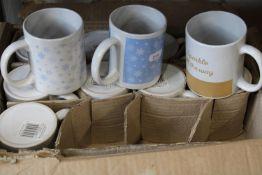 A box of 24 new mugs