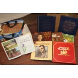 A selection of box set records & vintage gardening books Collection Only