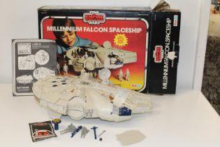 A boxed 1980's Star Wars Millennium Falcon spaceship
