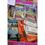 A box full of vintage football programmes from the 1960's & 70's