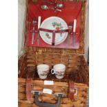 A vintage Brexton two person picnic set