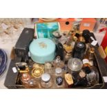 A collection of assorted designer scent bottles & other