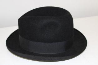 A vintage Dunn & Co London fedora hat