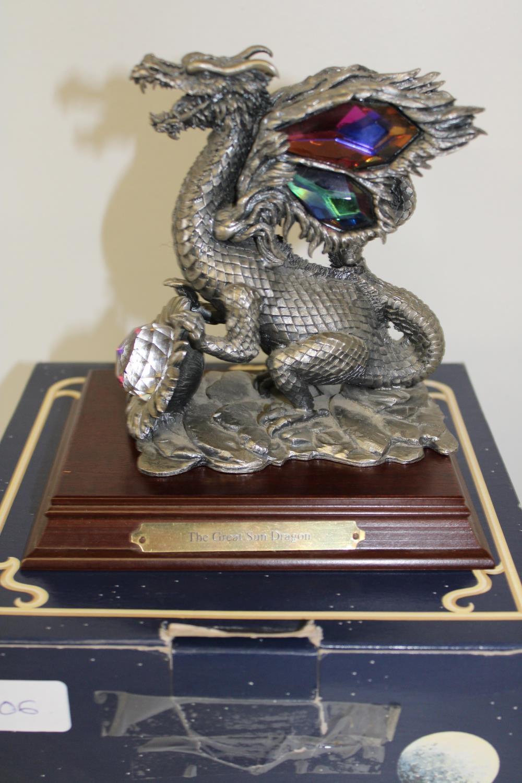 A large boxed Tudor Mint fantasy figure