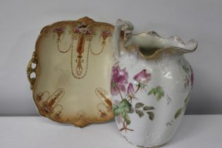 Two pieces of quality Victorian/Edwardian ceramics