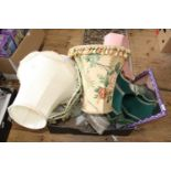 A job lot of vintage lamp shades Collection Only