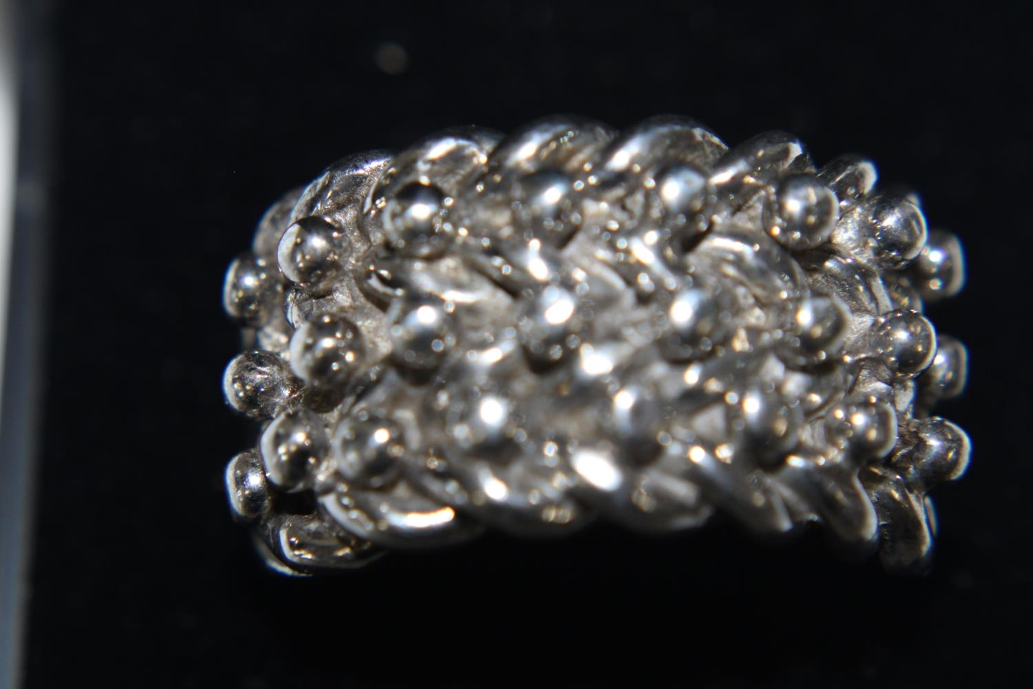 A heavy 925 silver keeper ring size X