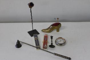 A good collectors lot including a pocket barometer