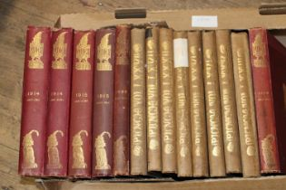 A selection of antique Punch volumes