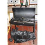 A barely used charcoal BBQ & utensils Collection Only