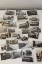 Thirty Liverpool tram related vintage postcards