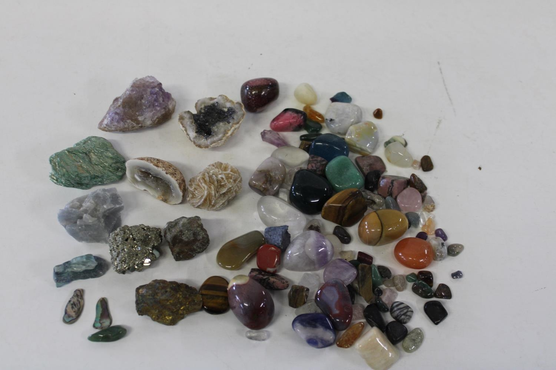 A selection of semi-precious & polished stones